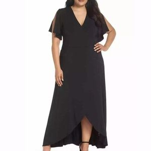 Tart black maxi dress